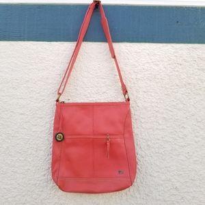 The Sak coral leather crossbody bag